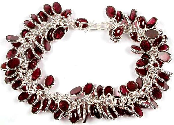 Garnet Bunch Bracelet