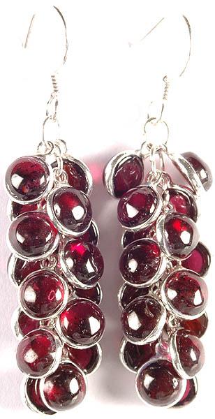 Garnet Bunch Earrings
