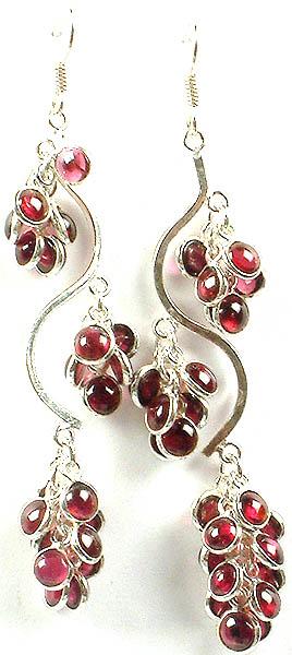 Luscious Garnet Bunch Earrings