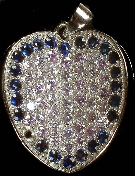 Gemstone Embellished Valentine Pendant