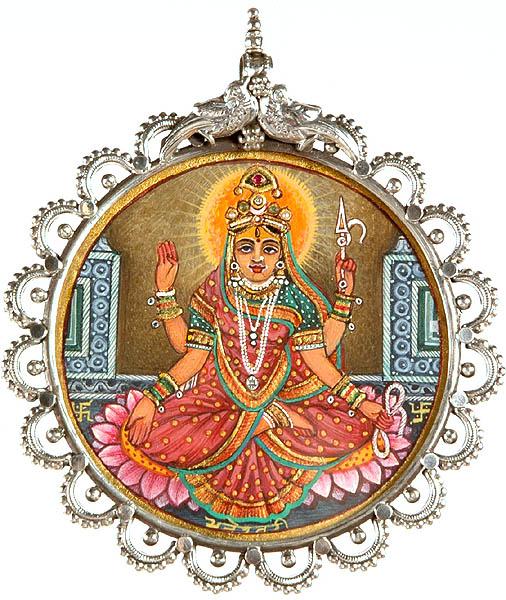 Goddess Bhuvaneshvari (Shakti of the Manifested World) Pendant