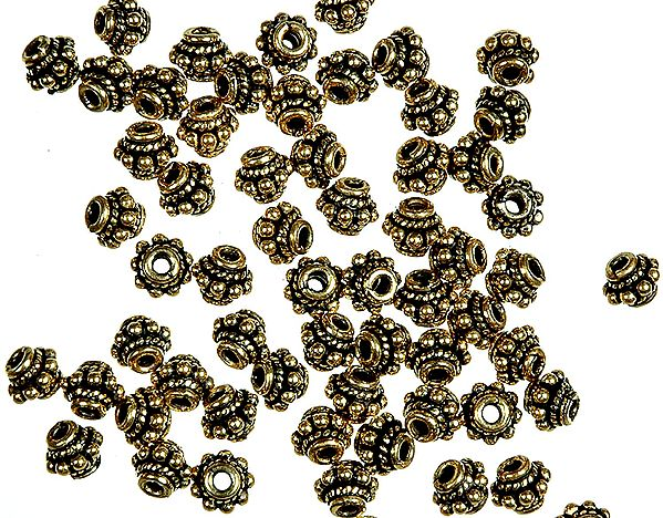 Gold Plated Beads<br>(Price Per Four Pieces)