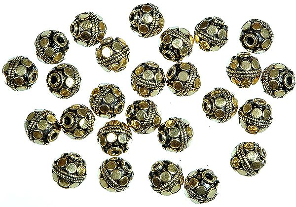 Gold Plated Circular Beads<br>(Price Per Dozen)