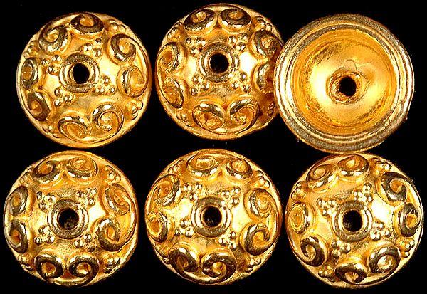 Gold Plated Fine Caps (Price Per Pair)