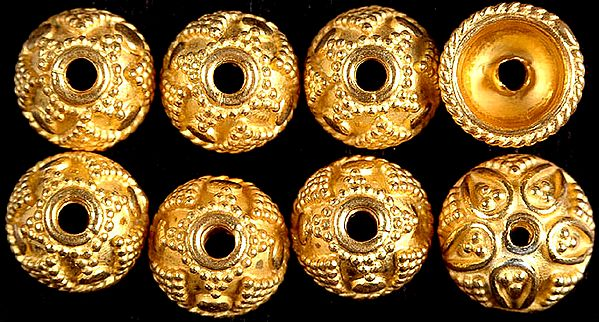 Gold Plated Granulated Fine Caps (Price Per Pair)