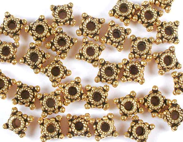 Gold Plated Square Beads