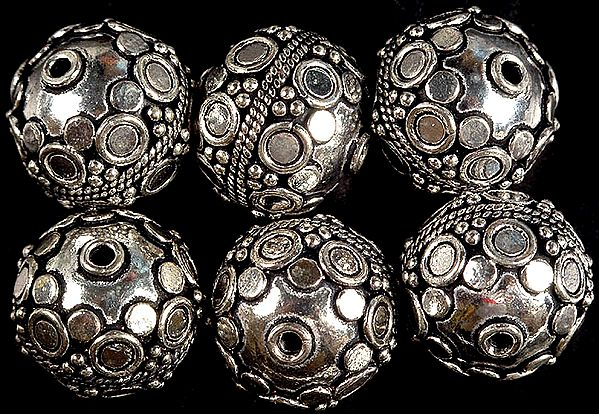 Granulated Fine Sterling Beads with Knotted Rope (Price Per Piece)