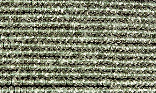 Green Amethyst Israel Cut Rondells