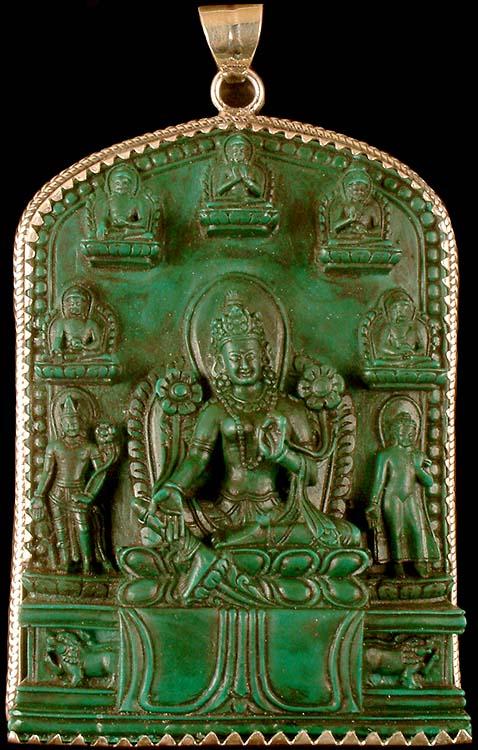 Green Tara (Pendant Cum Altar Piece)
