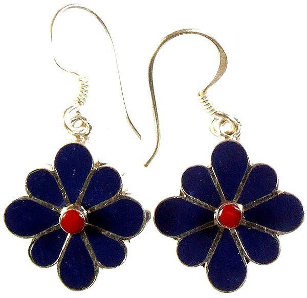 Inlay Blooming Flower Earrings