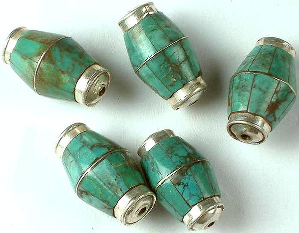 Inlay Turquoise Beads (Price Per Piece)