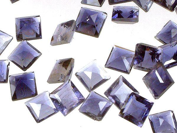 Iolite mm Squares (Price Per Pair)