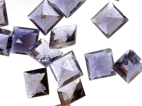 Iolite mm Squares (Price Per 5 Pieces)