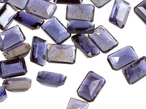 Iolite mm Octagonals (Price Per 10 Pieces)