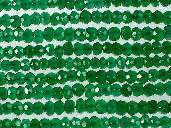 Israel Cut Green Onyx Rondells