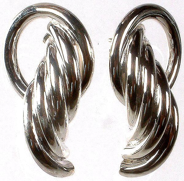 Sterling Designer Hoops