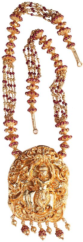 Lord Krishna Necklace  (South Indian Temple Jewelry)