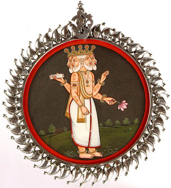 Lord Brahma Pendant (A Rare Object)