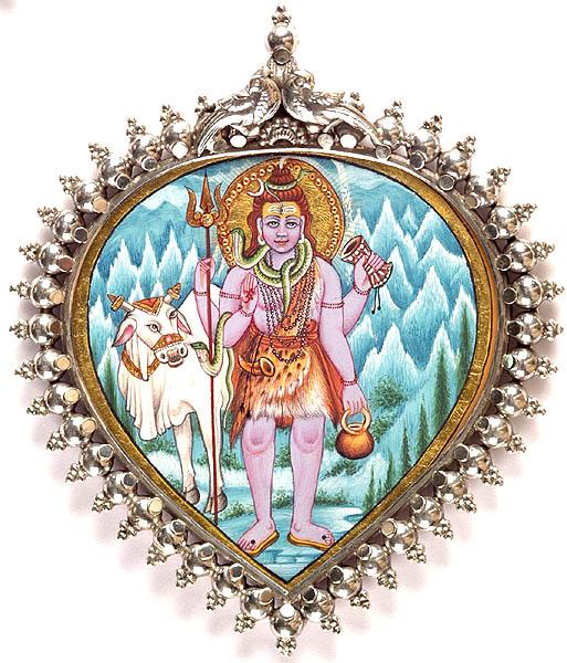 Lord Shiva with Nandi at Kailash