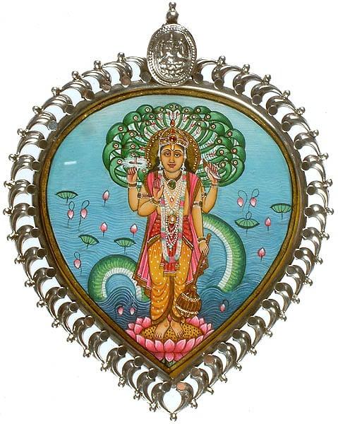 Lord Vishnu Pendant with Shri Ganesha at Apex