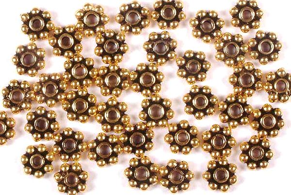 5 mm Gold Plated Round Beads