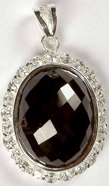 Oval Faceted Zircon Pendant