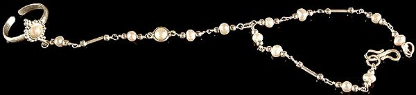 Pearl Slave Bracelet with Ring