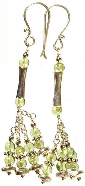 Peridot Jhumka Earrings