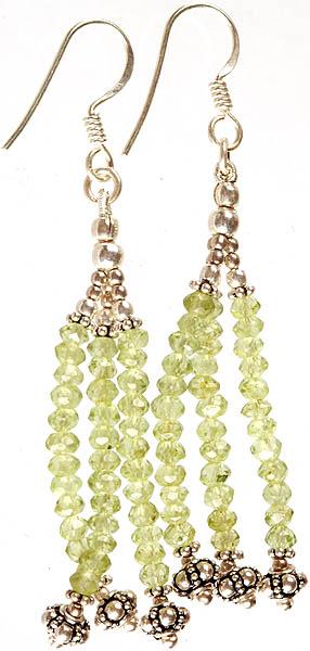Peridot Shower Earrings