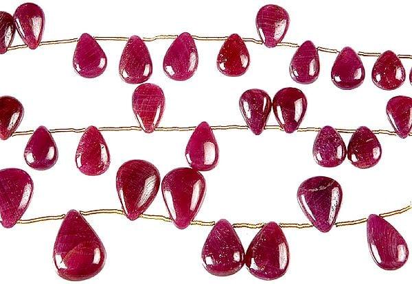 Ruby Plain Briolette