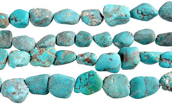 Unpolished Turquoise Plain Nuggets