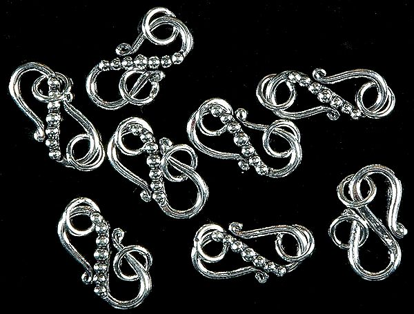 S Clasp with Jump Rings (Price Per Four Pieces)