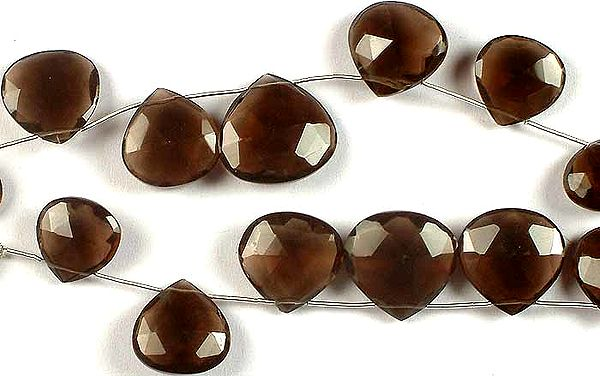 Smoky Quartz Faceted Briolette