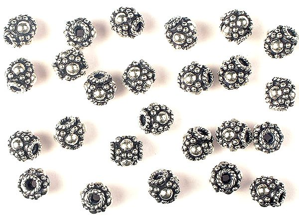 Sterling Beads with Knotted Rope (Price Per Pair)