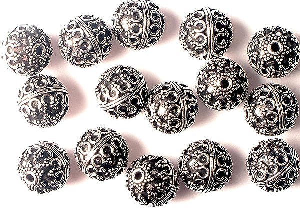Sterling Beads<br>(Price Per Four Pieces)