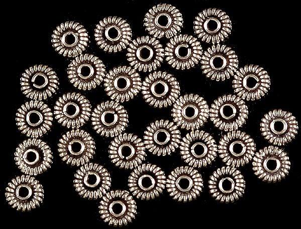 Sterling Circular Beads (Price Per Dozen)
