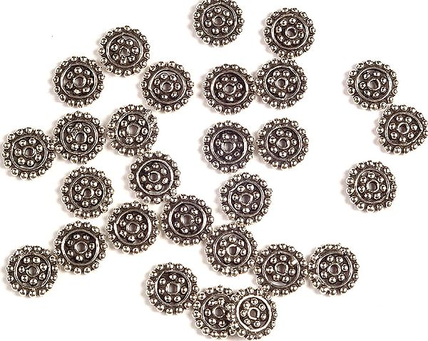 Sterling Circular Beads (Price Per Six Pieces)