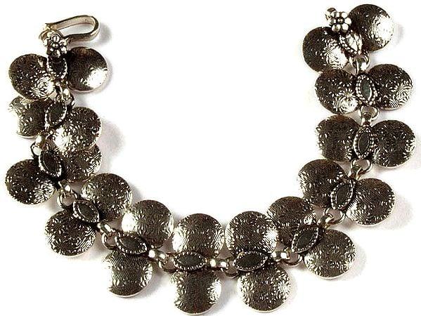 Sterling Discs Bracelet