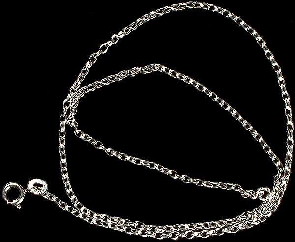 Sterling Fine Chain with Spring Lock to Hang Your Pendant On
