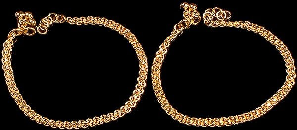 Sterling Gold Plated Anklets