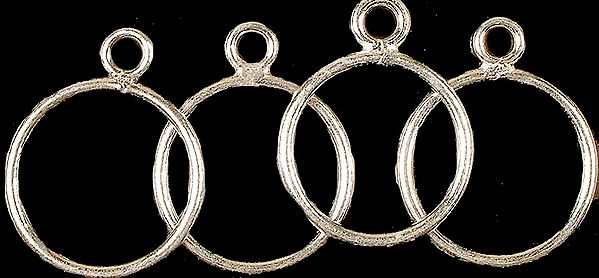 Sterling Hoop Attached with Jump Ring