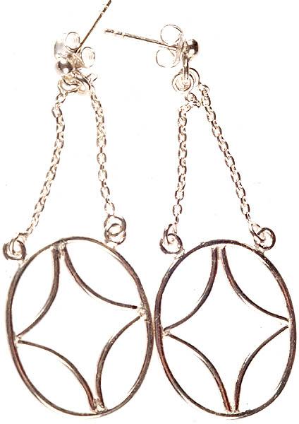 Sterling Hoop Post Earrings