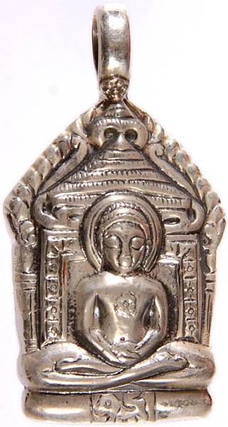 Sterling Jain Tirthankara Mahavira Pendant