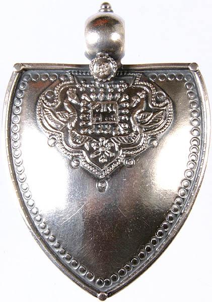 Sterling Medieval Emblem Pendant