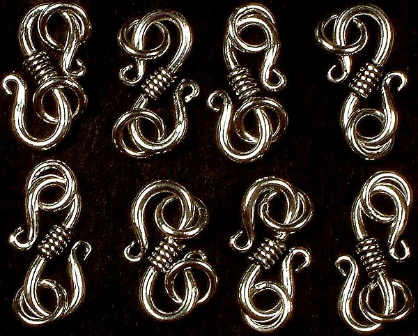 Sterling S Clasp with Jump Rings