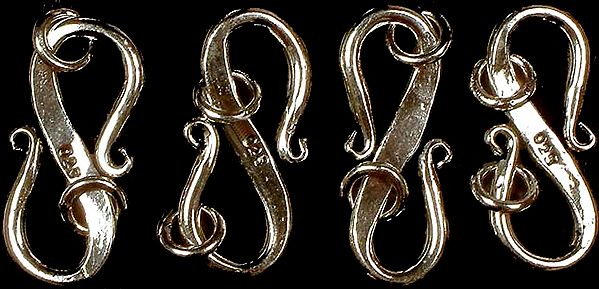 Sterling S Clasps with Jump Rings