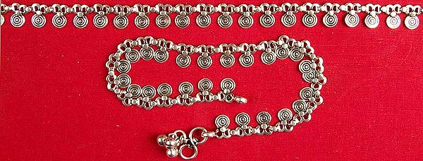 Sterling Spiral Anklets (Price Per Pair)