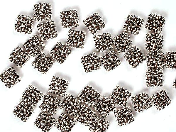 Sterling Square Beads