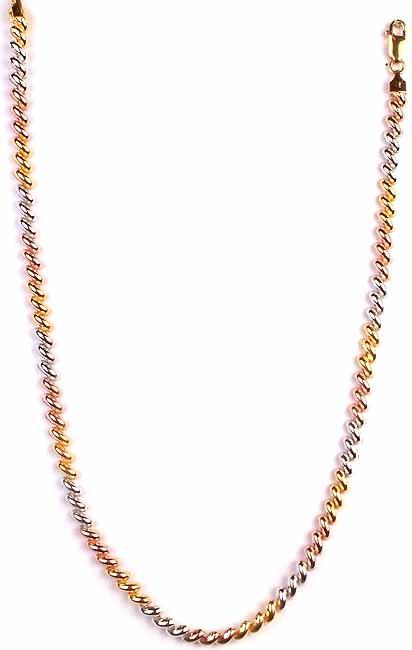 Sterling Triple Hued Necklace