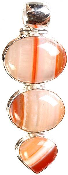 Striped Carnelian Pendant